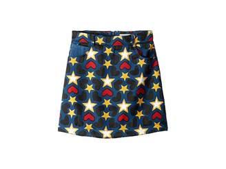 Stella McCartney Heart and Star Printed Denim Skirt (Little Kids/Big Kids)