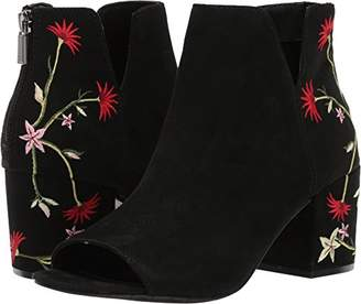 Kenneth Cole Reaction Women's Ride Floral PEEP Toe Embroidered Bootie Ankle Boot