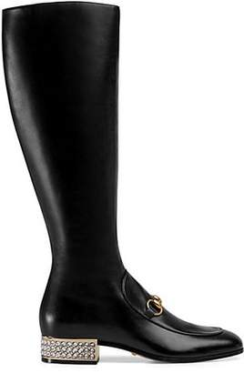 Gucci Women's Leather Knee Boots - Black