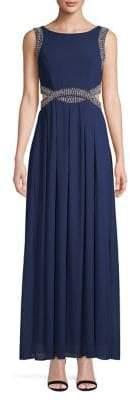 TFNC Sleeveless Pearl Embellished Maxi Dress