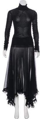 Jean Paul Gaultier Vintage Semi-Shear Maxi Dress