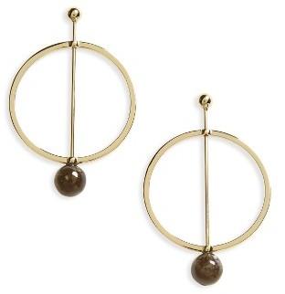 Women's Shashi Linear Marble Hoop Earrings $51 thestylecure.com
