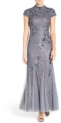 Women's Adrianna Papell Embellished Lace Gown $379 thestylecure.com
