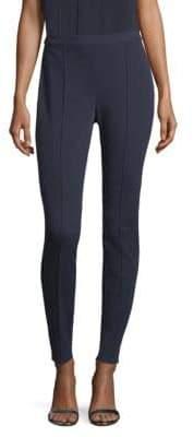 St. John Stretch-Twill Zip Leggings