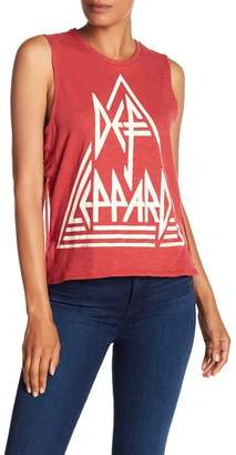 Lucky Brand Def Leppard Lace Up Tank