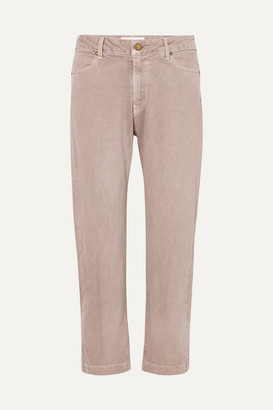 The Great The Rambler Cropped High-rise Jeans - Pink