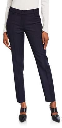 Akris Wool Crepe Slim Leg Flat Front Pants