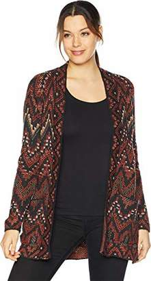 Lucky Brand Women's Long Ikat Open Front Cardigan Sweater