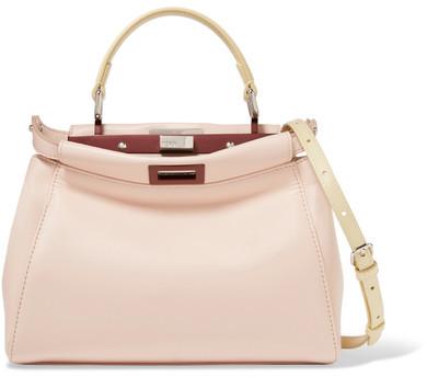 Fendi - Peekaboo Mini Leather Shoulder Bag - Blush