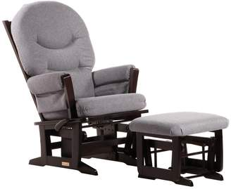 Dutailier Modern Glider-Multi-Position Recline and Nursing Ottoman Combo