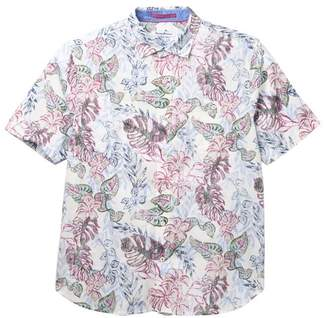 Tommy Bahama Diego Fronds Floral Print Regular Fit Hawaiian Shirt (Big & Tall)