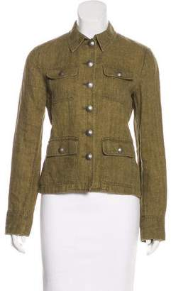 Lauren Ralph Lauren Linen Collared Jacket