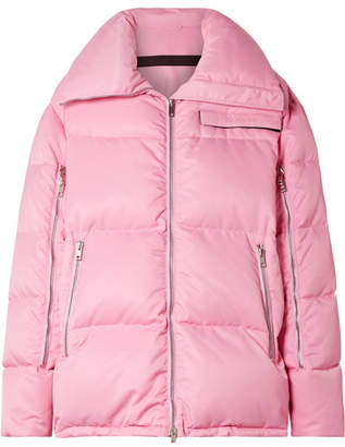 Calvin Klein Oversized Quilted Shell Coat - Baby pink