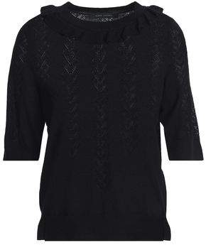 Marc Jacobs (マーク ジェイコブス) - Marc Jacobs Ruffle-Trimmed Wool And Silk-Blend Sweater