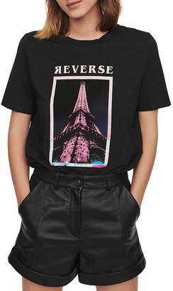 Maje Eiffel Tower Tee