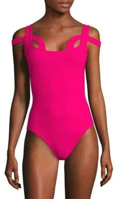 Chiara Boni One-Piece Cold-Shoulder Swimsuit