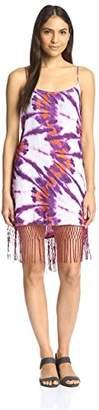 Sofia by Vix Women's Net Fringe Short Dress