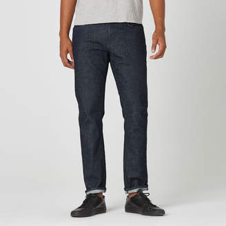 DSTLD Slim Jeans in Dark Wash Resin - Grey Stitch