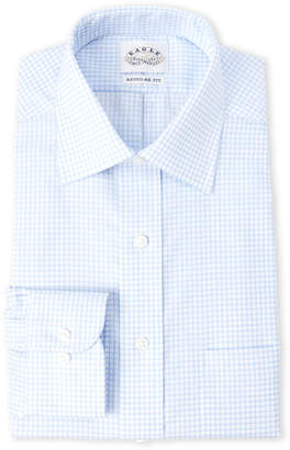 Eagle White & Blue Regular Fit Non-Iron Dress Shirt