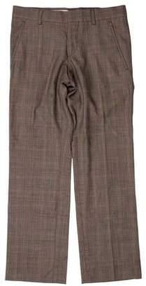 Gucci Plaid Wool Dress Pants
