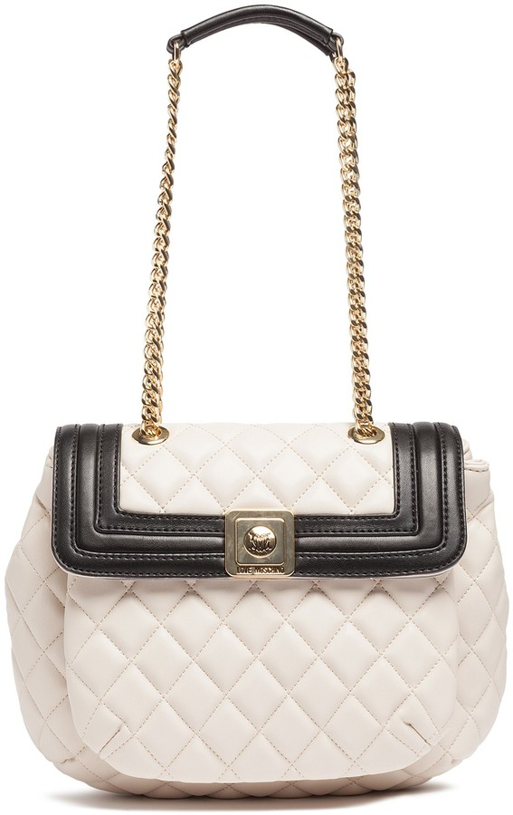 Love Moschino LOVE Moschino Quilted Flap Shoulder Bag