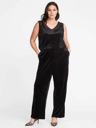 Old Navy Velvet Plus-Size Sleeveless Jumpsuit