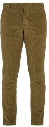 Incotex Slim Fit Cotton Blend Corduroy Trousers - Mens - Green