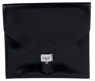 Hermes Vintage Box Leather Clutch