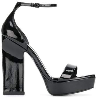 Saint Laurent Amber 105 platform sandals