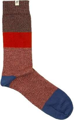 Melange Home 40 Colori Rust Striped Thick Organic Cotton Socks