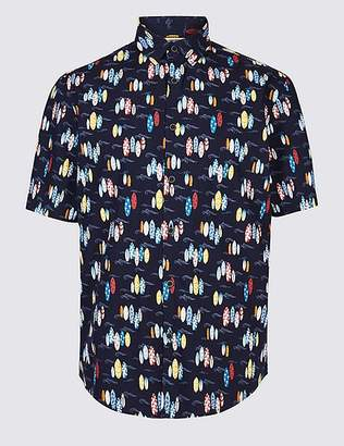 Marks and Spencer Pure Cotton Surfboard Design Shirt
