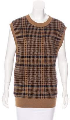 Dries Van Noten Houndstooth Sweater Vest