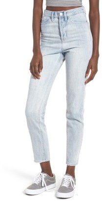 Women's Obey Sundays High Waist Slim Ankle Jeans $78 thestylecure.com