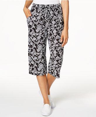 Karen Scott Cotton Printed Capri Pants, Only at Macy's $39.50 thestylecure.com