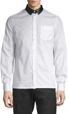 Valentino Classic Cotton Button-Down Shirt