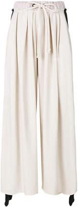 Natasha Zinko elasticated waistband wide leg trousers