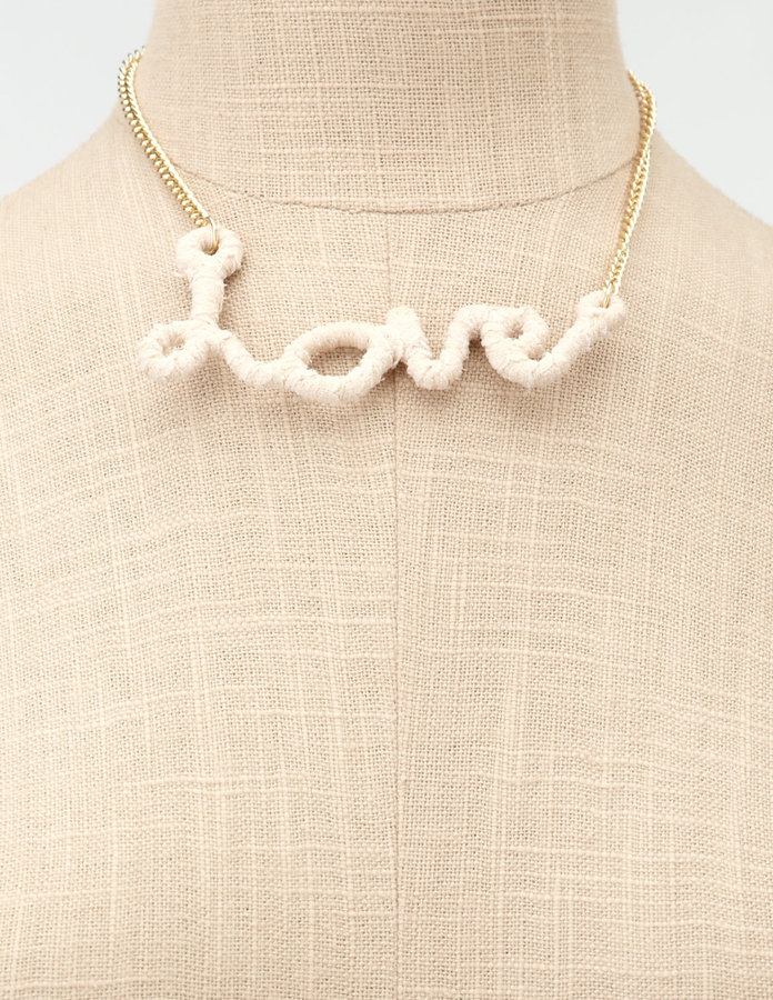 Charlotte Russe Wrapped With Love Necklace