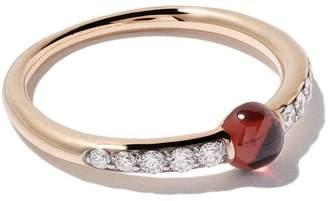 Pomellato 18kt rose gold M'ama non M'ama garnet & diamond ring