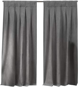 Home Outfitters Exclusive Home Ghent Metrosuede Inverted Pleat Button Top Curtain Panel Pair