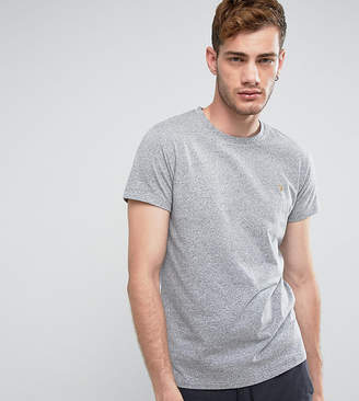 Farah Gloor Marl Slim Fit T-Shirt In Gray