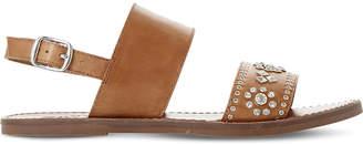 Dune Luma embellished leather slingback sandals