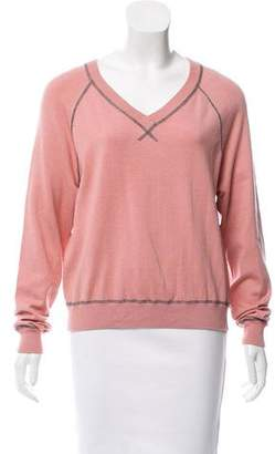 Jason Wu Grey by V-neck Long Sleeve Sweater