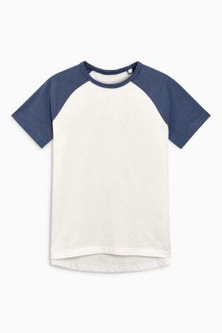 Boys Blue Raglan T-Shirt (3-16yrs) - Blue