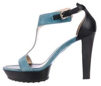 Tod's Suede Platform Sandals