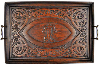 One Kings Lane Vintage Carved Wood Tray - Acquisitions Gallerie