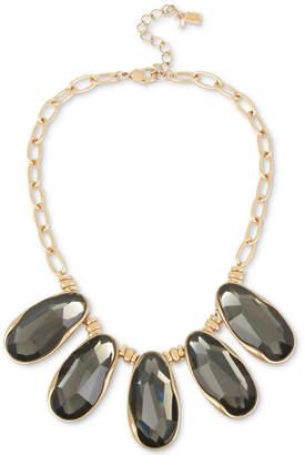 "Robert Lee Morris Soho Gold-Tone Stone Statement Necklace, 16"" + 3"" extender"