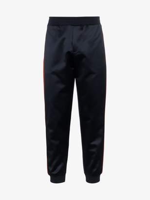 Alexander McQueen navy blue stripe leg sweatpants