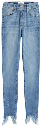 Frame Le Skinny Stiletto Distressed Hem Jeans