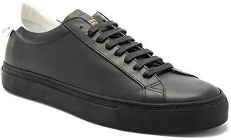 Givenchy Leather Urban Street Low Top Sneakers in Black & White | FWRD