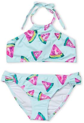 8e1e8a791d7e8 Pilyq Girls 7-16) Two-Piece Watermelon Print Halter Neck Bikini